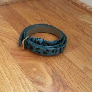Leopard print belt - blue